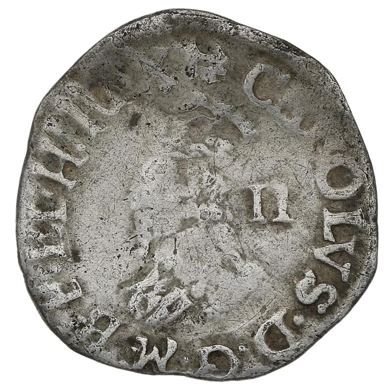 1638-9 Charles I Hammered Silver Halfgroat mm Anchor