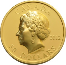 High Relief 2012 $50 Pure Gold Proof Coin Queen's Diamond Jubilee Boxed