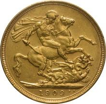 1909 Gold Sovereign - King Edward VII - S