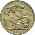 1915 Gold Sovereign - King George V - M