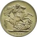 1915 Gold Sovereign - King George V - M