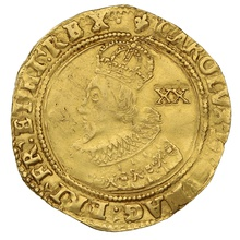 1625 Charles I Unite Gold Coin - mm Lis