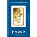 PAMP Rosa 1oz Gold Bar Minted