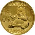 2017 8 gram Gold Chinese Panda Coin-100 Yuan