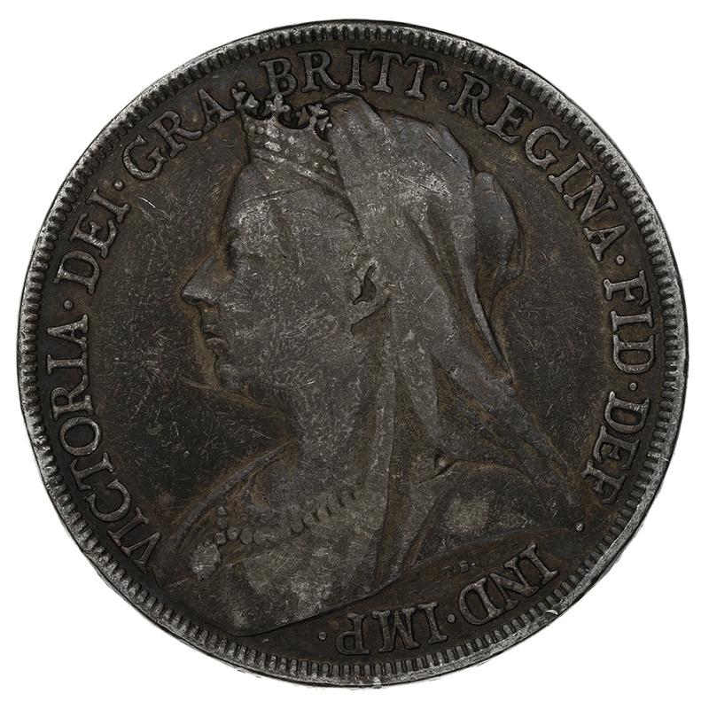 1893 Queen Victoria Silver Crown - About Fine