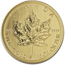 2016 Tenth Ounce Gold Canadian Maple