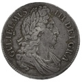 "1696 William III Silver Crown ""OCTAVO"" - Very Fine"