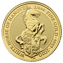 2020 1/4oz White Horse of Hanover, Queen's Beast Gold Coin