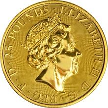 2018 Royal Mint Quarter Ounce 1/4 oz Gold Standard £25 coin