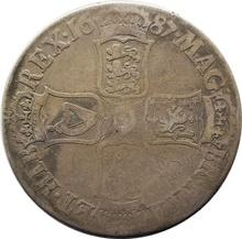 1687 James II Silver Crown - Fine
