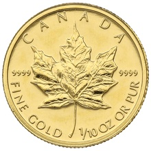 2004 Tenth Ounce Gold Canadian Maple