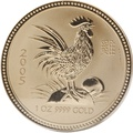 2005 1oz Gold Australian Lunar Year of the Cockerel