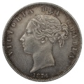 1874 Queen Victoria Silver Halfcrown