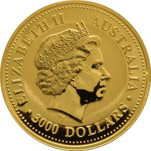 1kg Gold Australian Year of the Pig 2007