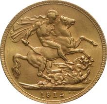 1914 Gold Sovereign - King George V - London