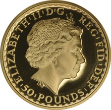 2008 Half Ounce Proof Britannia Gold Coin