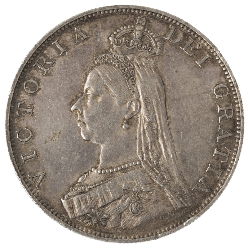1887 Victoria Double Florin - Very Fine