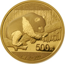 2016 30g Gold Chinese Panda Coin