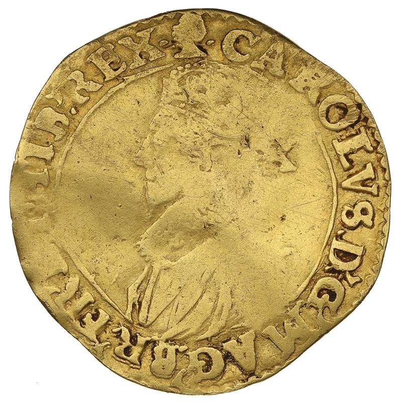1626-7 Charles I Hammered Gold Double-Crown mm Blackamoor's Head