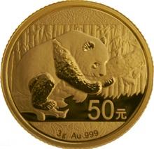 2016 3 gram Gold Chinese Panda Coin