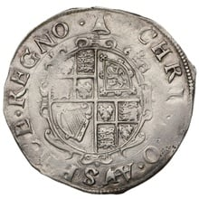 1634-5 Charles I Hammered Silver Shilling mm Bell