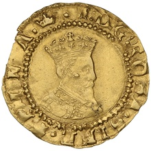 1607-9 James I Hammered Gold Half-crown mm Coronet