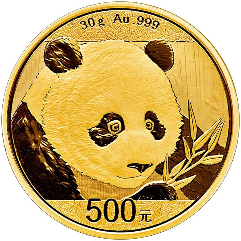 2018 30g Gold Chinese Panda Coin