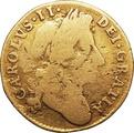 1684 Charles II Half Guinea - Fine