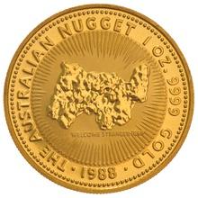1988 1oz Gold Australian Nugget