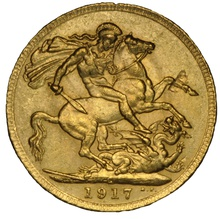 1917 Gold Sovereign - King George V - Canada