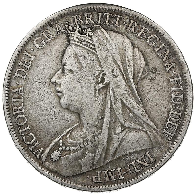 1900 Queen Victoria Silver Crown