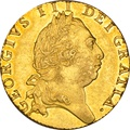 1793 George III Milled Gold Guinea NGC AU55