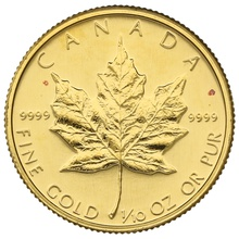 1989 Tenth Ounce Gold Canadian Maple