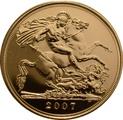 2007 Gold Sovereign - Elizabeth II Fourth Head