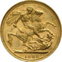 1888 Gold Sovereign - Victoria Jubilee Head - S