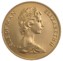 1975 Gold Sovereign - Elizabeth II Decimal Portrait - Isle of Man