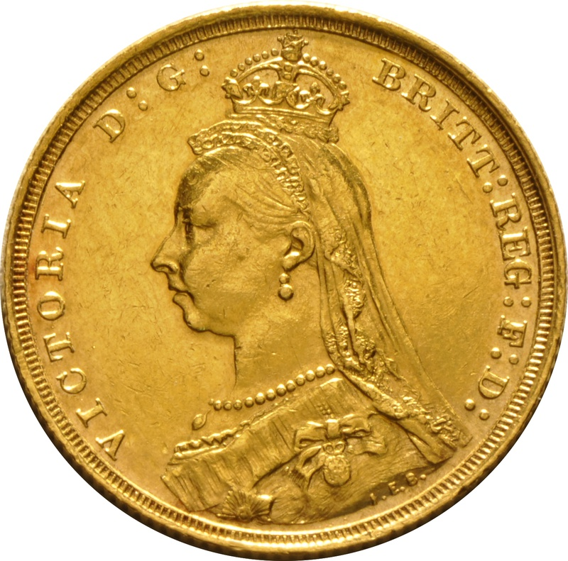 Sovereign - Victoria, Jubilee Head