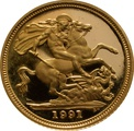 1991 Gold Half Sovereign Elizabeth II Third Head Proof