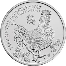 2017 Royal Mint 1oz Year of the Rooster Silver Coin