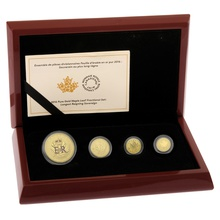 2016 Pure Gold Maple Leaf Fractional Set Boxed
