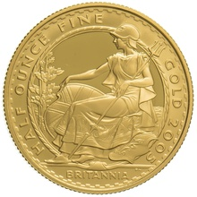 2005 Half Ounce Proof Britannia Gold Coin