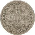 1664 Charles II Halfcrown - Good Fine