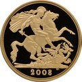 2008 £2 Two Pound Proof Gold Coin (Double Sovereign)