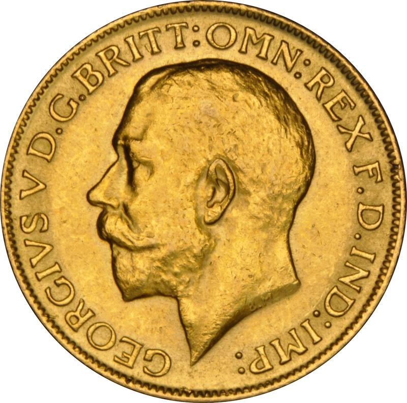 1916 Gold Sovereign - King George V - London NGC AU58