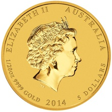 2014 Twentieth Ounce Year of the Horse Gold Coin