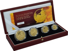 2005 Proof Britannia Gold 4-Coin Set Boxed