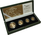 2004 Gold Proof Sovereign Four Coin Set Boxed