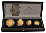 2005 Gold Proof Sovereign Four Coin Set Boxed