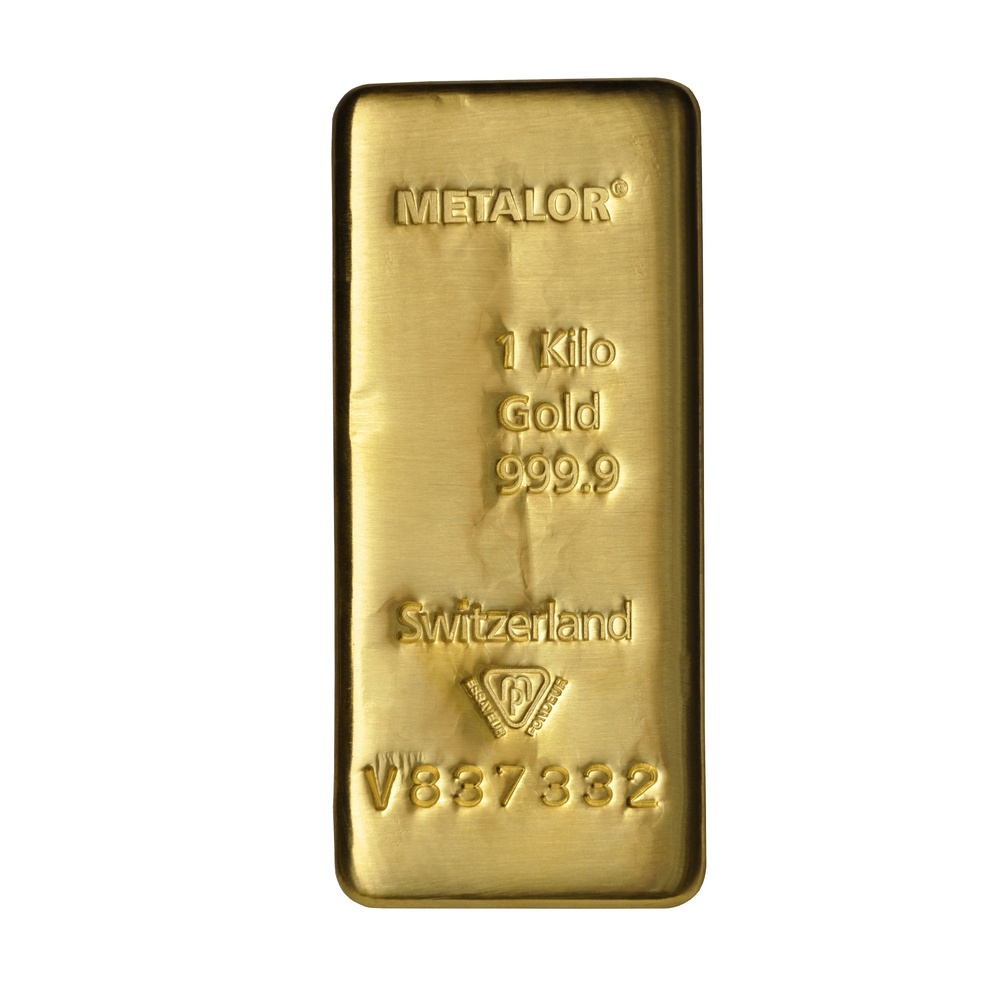 Metalor 1kg Gold Investment Bars Bullionbypost From 52 467