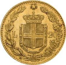 Italian 20 Lire Gold Coin Umberto I